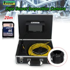 "(359.34$)  Watch more here  - ""Free shipping!20M Sewer Waterproof Camera 7"""" LCD Drain Pipe Pipeline Inspection System with DVR"""