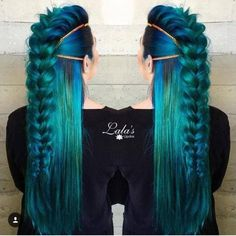 71 ideas for green hair dyes that you will love - hair - Hair Styles New Braided Hairstyles, Pretty Hairstyles, Braided Updo, Updo Hairstyle, Latest Hairstyles, Prom Hairstyles, Bridesmaid Hairstyles, Hairstyle Ideas, Different Braid Hairstyles