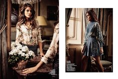 Shlomit Malka poses in flirty dresses from the spring collections for Marie Claire Czech magazine February 2016 issue