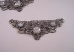 Pewter Embroidered and Jeweled AppliqueOne by fabricsandtrimmings, $10.22