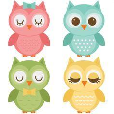 Assorted Owl Set SVG files for scrapbooking owl svg file owl svg cut file owl…