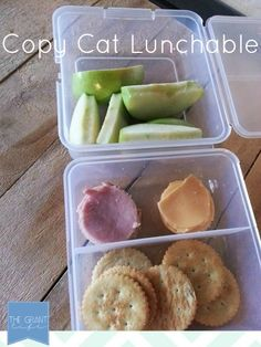 Back to school Lunch idea: Copy cat lunchable!  Healthier and cheaper then store bought.