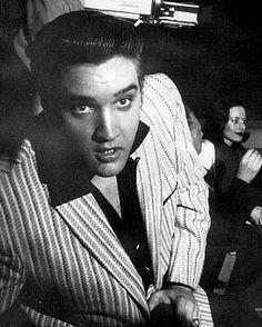 Candid Moment between Rehearsals Elvis - Milton Berle Show!