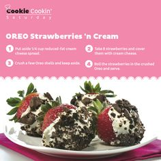 Or just relish a Strawberry Crème Oreo instead. #Saturday #CookieCookin' #Strawberries #Cream #Recipe