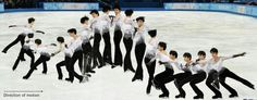 Hanyu: cuádruple toe lop. He went full speed and had a high-quality jump.