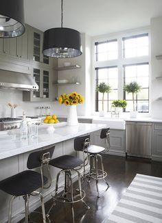 classic marble + white kitchen by Lynn Morgan Design