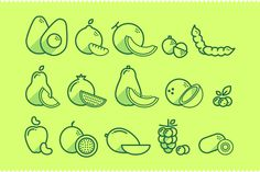 Fruit Icons Pt. 2 by Guilherme Zamarioli, via Behance