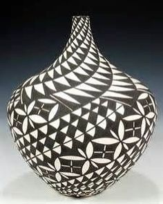 Acoma Pueblo Hand Coiled, Hand Painted Pottery by Sandra Victorino Native American Baskets, Native American Pottery, Native American Art, Ceramic Pottery, Pottery Art, Ceramic Art, Coiled Pottery, Painted Pottery, Vases