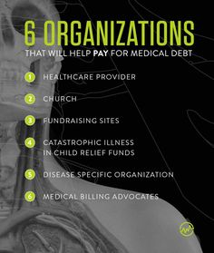 How To Get Help With Medical Debt: 8 Organizations That Pay Medical Bills - WealthFit Fundraising Sites, Go Fund Me Page, Medical Billing, Human Services, Organizations, Debt, Health Care, Cancer, Health