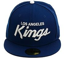 New Era 5950 Los Angeles Kings Script Fitted Hat - Royal Blue 58d0682577f8