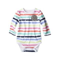 Circo® Newborn Girls' Stripe Bodysuit - Multicolor Quick Information