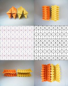 Fabian Correa Square corrugation and Jeremy Shafer Pineapple tessellation Origami Mouse, Origami Fish, Origami Star Box, Origami Stars, Origami Paper Art, Paper Crafts, Origami Architecture, Tropical Architecture, Origami Patterns