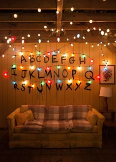 So, season 2 of Stranger Things was released Friday, and Chip and I planned for a marathon viewing party to celebrate the second season. Because we loved the first season … wallpaper ideas How To Throw A Stranger Things Viewing Party - Lay Baby Lay Netflix Stranger Things, Stranger Things Tumblr, Stranger Things Aesthetic, Stranger Things Wall, Stranger Things Alphabet Wall, Tumblr Wallpaper, View Wallpaper, Kawaii Wallpaper, Wallpaper Quotes