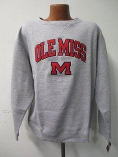 Ole Miss Rebels Mens Large Pull Over Embroidered Sweatshirt HH 9990 #GenuineStuff #OlemissRebels