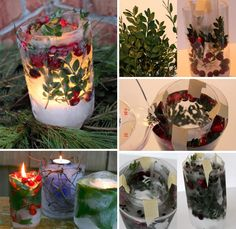 Frozen Ice Candles To Light Up Your Garden - http://www.beautyandhairstyle.com/home-decor/frozen-ice-candles-to-light-up-your-garden.html