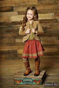 Another cute fall outfit from #MustardPie. #MyLittleJules
