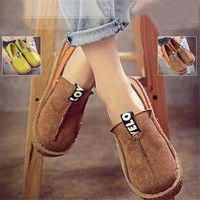 25e3b69ce Buy Casual Women Comfy Flat Moccasin-Gommino Loafer Shoes Round Toe Diving Leisure  at Wish - Shopping Made Fun