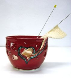Red Heart Knitting Bowl...love