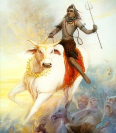 Nandi Avatar Lord Shiva represents all beings on Earth. This avatar of Lord Shiva is an indication towards it. : 19 Avatars of Lord Shiva Shiva Tandav, Shiva Art, Hindu Art, Hare Krishna, Tantra, Religion, Shiva Lord Wallpapers, Lord Mahadev, Shiva Wallpaper