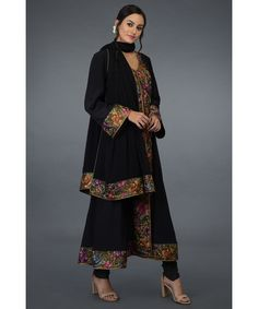 Product Zoom Embroidery Suits, Sarees, Kimono Top, Dresses With Sleeves, Long Sleeve, Tops, Women, Fashion, Gowns With Sleeves