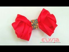 How To Make : Kanzashi Hair Bow With Grosgrain Ribon | DIY by Elysia Handmade - YouTube