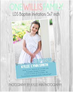 LDS Baptism Invitation: Modern, Custom boy or girl Lds Blogs, Fhe Lessons, Full Size Photo, Visiting Teaching, Baptism Dress, Baptism Invitations, Parenting Hacks, Boy Or Girl, Photography