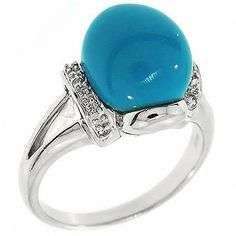 3.60Ct Certified Round Diamonds Turquoise Statement Cocktail Ring 14K White Gold #Cocktail #Certified #Diamonds #Turquoise #Statement #Ring 14K #White #Gold #Christmas #Holiday #Gift