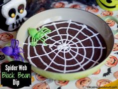 Spider Web Black Bean Dip