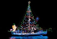 December 8, 2012: Christmas Boat Parade of Lights at Mary Ross Waterfront Park in Brunswick, Georgia.