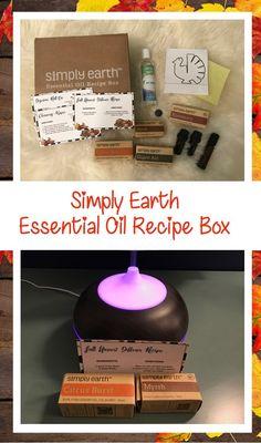 Simply Earth Essential Oil Recipe Box November Pinterest