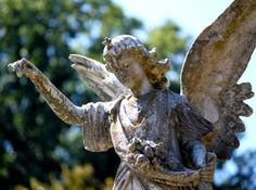 Weathered beautiful,old Angel from Maple Hill Cemetery.Helena,Arkansas