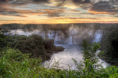 """Iguazú Falls, which runs from Brazil to Argentina, is known to be the most beautiful waterfall in the world. In fact, it is said that United States First Lady Eleanor Roosevelt said, """"Poor Niagara!"""" when she first saw it. Source: Flickr user SF Brit"""