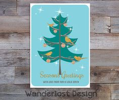 Custom 5x7 Holiday Greeting Card Party Invite Christmas