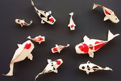 Koi by Sipho Mabona, folded by me by Shikigami no Mai, via Flickr
