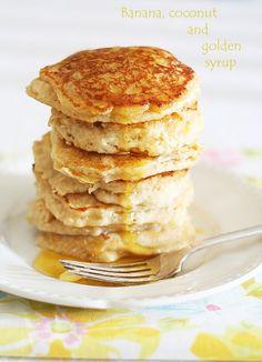 Shrove Tuesday banana coconut pancakes | a splash of vanilla