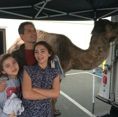 Rowan Blanchard, Carmen, and their dad