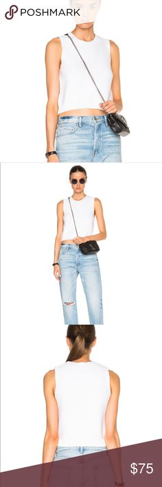 FRAME DENIM crop sleeveless sweater Crop sleeveless sweater by FRAME. Like new condition. In color: blanc. Frame Denim Tops