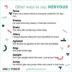 Other ways to say: Nervous