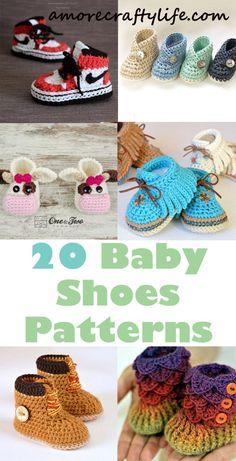 baby shoes crochet patterns - baby gift - crochet pattern p Crochet Diy, Crochet Gifts, Crochet For Kids, Crochet Baby Sandals, Crochet Shoes, Crochet Slippers, Crochet Baby Blanket Beginner, Baby Knitting, Knitting Kits