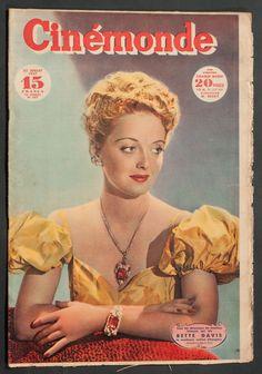 'CINEMONDE' FRENCH VINTAGE MAGAZINE BETTE DAVIS COVER 22 JULY 1947   eBay