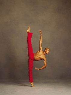 Flexibility and strength! Photo credit: Andrew Eccles for Alvin Ailey American Dance Theatre