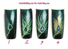 Image detail for -Peacock Party Style Nail Art Step by Step Repinned by http://www.naildesignshop.nl