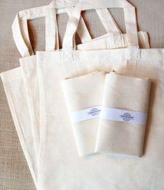 10 Blank Tote Bags