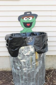 Love the idea of putting Oscar by the trash can.
