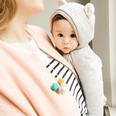 Teresa Silicone Teething Necklace in Mermaid. Modern, geometric, and cool- It won't even hint that it's a teething necklace