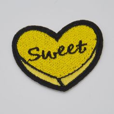 sweet logo Embroidered patches For clothing Iron on Sew applique Sequins Motif | Crafts, Sewing, Embelishments & Finishes | eBay!
