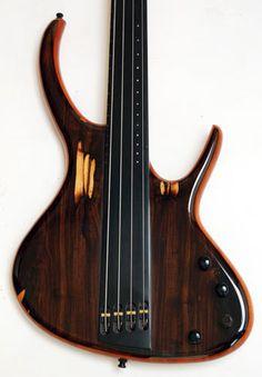 fretless bass with hidden pickups