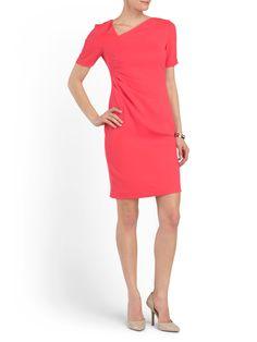 79e005cb4f9 Marianna Gathered Side Dress - Shift   Sheath - T.J.Maxx