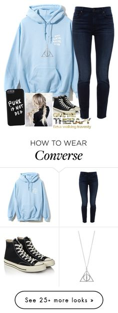 """""""Untitled #2192"""" by tokyoghoul1 on Polyvore featuring Jen7, Converse and Therapy"""
