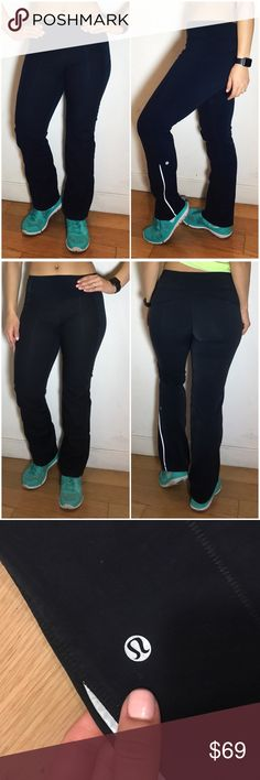 """Lululemon Straight Leg Sweatpants Lululemon Straight Leg Sweatpants. -Size 4. -Inseam: 31"""" -Mixed luon and sweatpant material. -Excellent condition, some pulling in luon area on waistband.   NO Trades. Please make all offers through offer button. lululemon athletica Pants"""